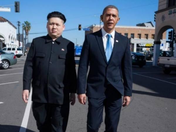مفاجئة: أوباما وعدوّه اللدود رئيس كوريا الشمالية كيم جونغ معاً في لوس أنجلوس