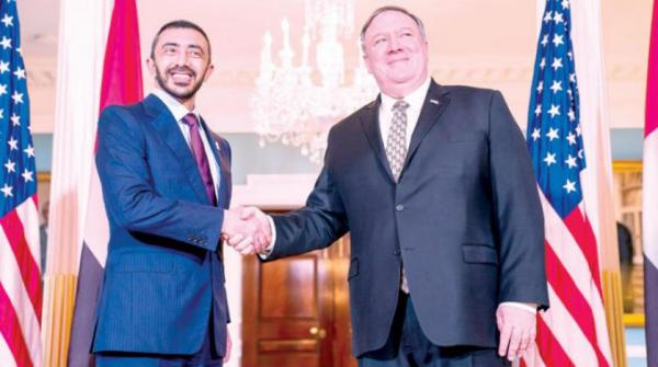 وزير الخارجية الإماراتي يبحث مع مسؤولين أمريكيين التعاون المستمر في اليمن لمجابهة الحوثيين والقاعدة