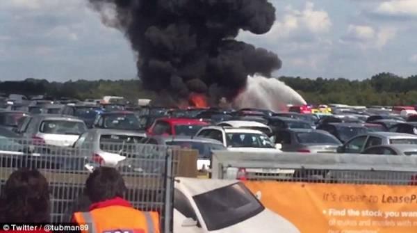 بالصــور.. تحطم طائرة مملوكة لأسامة بن لادن ومصرع أربعة من أقاربه في العاصمة البريطانية (ترجمة)