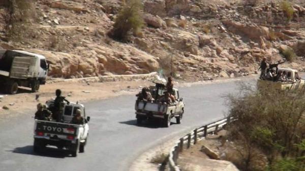 القوات المشتركة تكسر أربع هجمات حوثية بالضالع