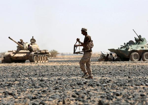 قصف مدفعي وجوي استهدف تجمعات لمليشيا الحوثي في وادي سريم بنهم وسقوط قتلى وجرحى