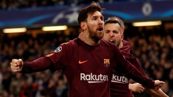 هدف ميسي يمنح برشلونة التعادل أمام تشيلسي في دوري أبطال أوروبا