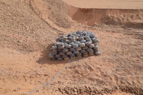 إتلاف 3552 من مخلفات ألغام مليشيا الحوثي في عدن