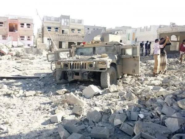 صور وآثار الغارات وعملية عسكرية ضد القاعدة في حضرموت