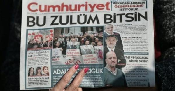 تركيا: أحكام بالسجن على 14 صحافيا في جريدة &#34جمهورييت&#34