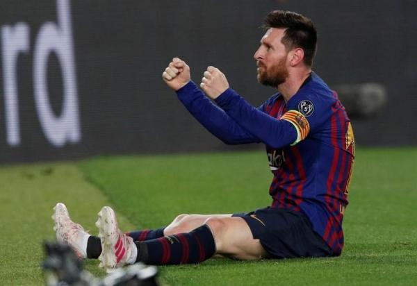 ميسي يقسو على ليفربول ويسجل هدفه 600 مع برشلونة