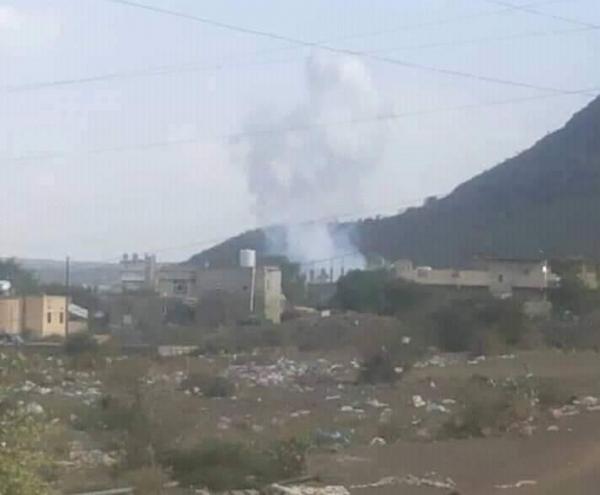 قصف حوثي شمالي الضالع يودي بأسرة كاملة