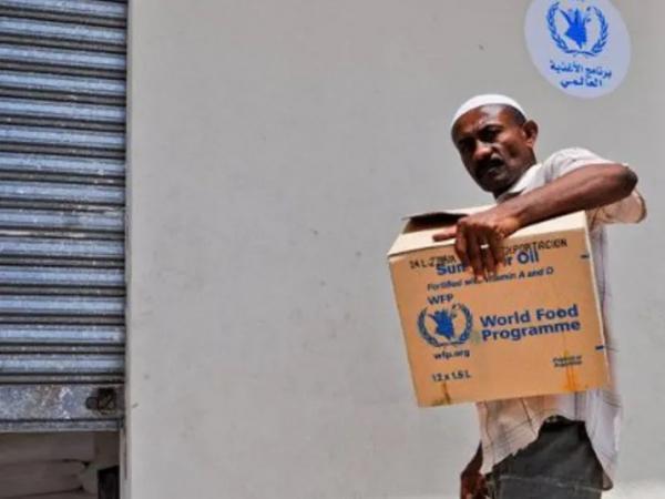 ضبط مساعدات من الغذاء العالمي تباع بأسواق حضرموت