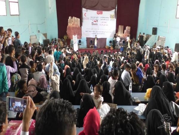 &#34الهلال الأحمر الاماراتي&#34 يحتفل بخريجي كلية العلوم الإدارية في جامعة تعز