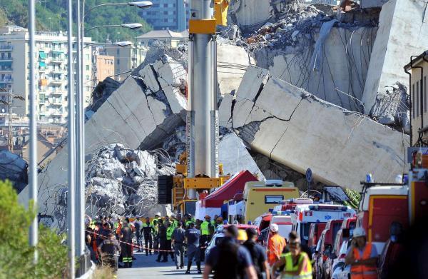 إيطاليا: إعلان حالة الطوارئ في جنوى 12 شهرا وخطة حكومية لتفقد حالة كافة الجسور القديمة