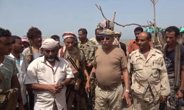 فيديو- قيادات بالمقاومة الوطنية تقوم بزيارة عيدية لأبطال المقاومة التهامية بالجاح في الحديدة