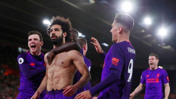 ليفربول يحقق فوزاً عصيباً على ساوثامبتون بثنائية ماني وفيرمينو