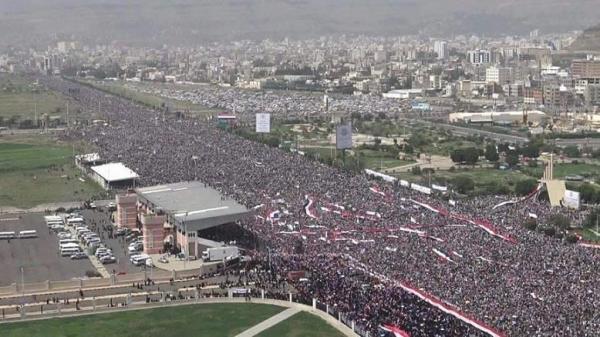 """بالصور- مسيرة 20 أغسطس الكبرى في """"السبعين"""" بصنعاء"""