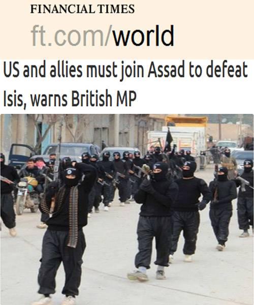 """نائب بريطانى بارز يدعو واشنطن وحلفاءها إلى التعاون مع الأسد لدحر """"داعش"""""""