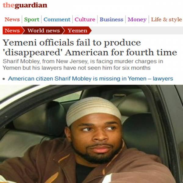 """الحكومة اليمنية تفشل للمرة الرابعة في إحضار الأمريكي المختفي قسرياُ """"شريف موبلي"""""""