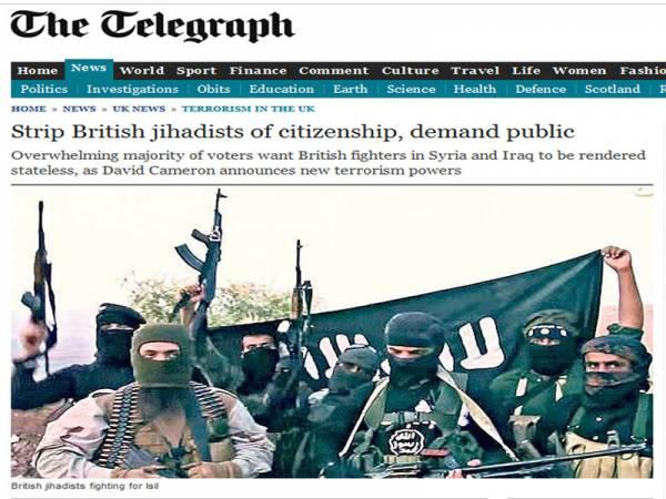 ديلي تليجراف: 67%من البريطانيين يؤيدون سحب الجنسية من مجهاديي المملكة المتحدة