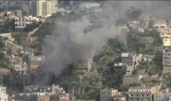 تعز: المرتزقة يقصفون منازل المواطنين في موزع