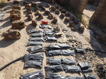 حجة.. القوات الحكومية تتلف 500 لغم زرعتها المليشيات في حرض