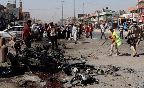 ارتفاع عدد ضحايا هجومين انتحاريين بجنوب العراق إلى 50 قتيلا