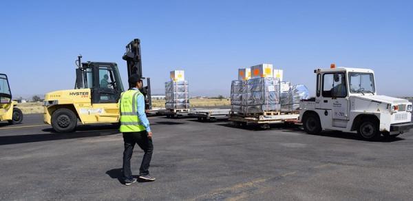 وصول شحنة أدوية لمرضى السكري إلى مطار صنعاء الدولي