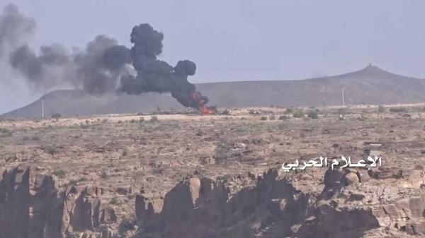 حجة: إحراق مخزن أسلحة للمرتزقة بقصف صاروخي بميدي