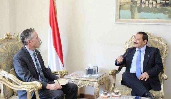 وزير الخارجية يلتقي الممثل المقيم لبرنامج الغذاء العالمي