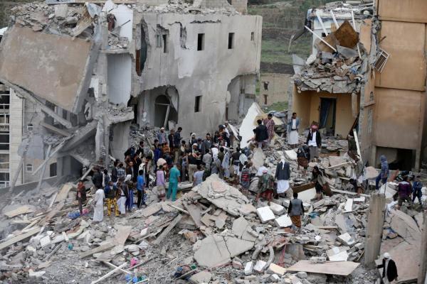 استشهاد 4 مدنيين في غارة دمرت منزلا بصعدة