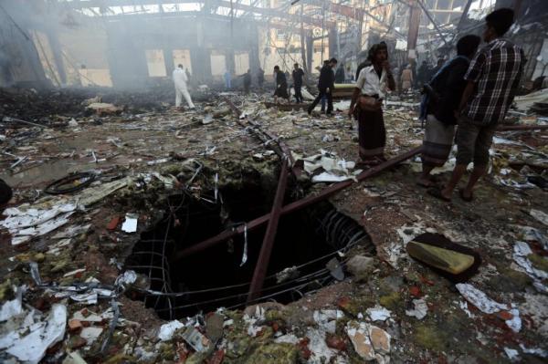 بالصور: المجزرة الكبرى في الصالة الكبرى بصنعاء
