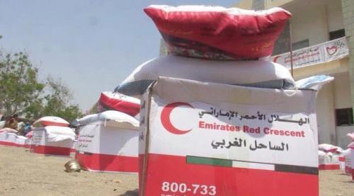 الهلال الإماراتي يسير قوافل مساعدات غذائية جديدة في الحديدة