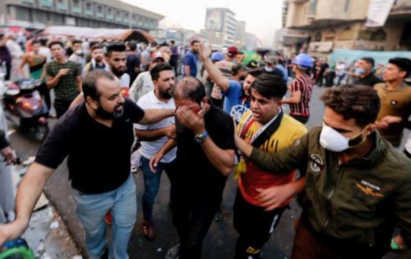 عشرات القتلى والجرحى في محاولة قوات الأمن إخلاء ساحات في بغداد من المتظاهرين والكويت تغلق قنصليتها في البصرة