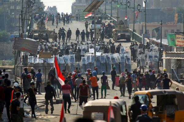 فرانس برس: اتفاق سياسي لإنهاء الاحتجاجات في العراق بالقوة بعد اجتماع مع الجنرال الايراني سليماني