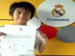 ريال مدريد يتعاقد رسميا مع صبي ياباني عمره 9 سنوات