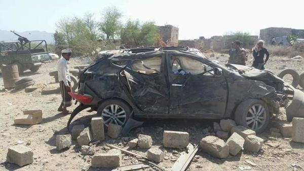 قصف حوثي اسفر عن مقتل 9 اشخاص بينهم أمرأة وطفل بتعز