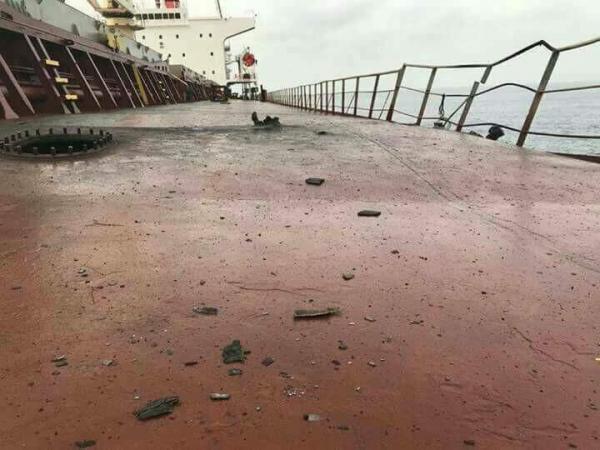 الاتحاد الأوروبي السفينة التركية تم قصفها بصاروخ من عناصر في اليمن