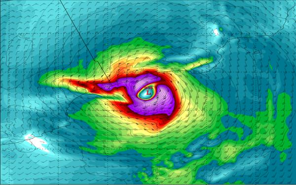 مركز الانذار الدولي المشترك يطلق تحذيرا هاما بخصوص الاعصار ماكونو