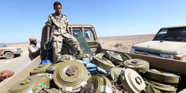"""""""مسام"""" ينتزع 17,777 لغماً حوثياً متنوعاً في اليمن"""