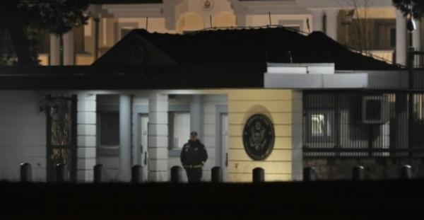 هجوم انتحاري قرب السفارة الامريكية في بودغوريتسا