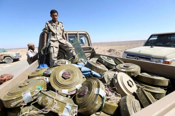انتزاع 300 ألف لغم زرعتها مليشيا الحوثي
