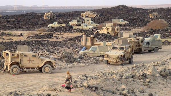 """مأرب: تعزيزات عسكرية تصل المرتزقة في """"ماس"""""""