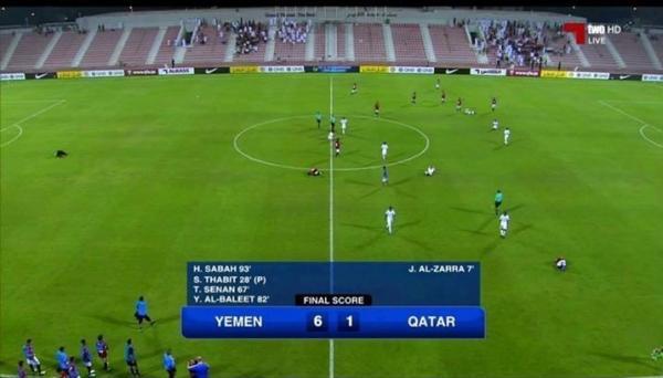 تصفيات اسيا للناشئين: اليمن يمطر شباك قطر بـ6 أهداف