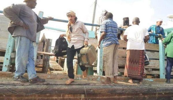 وصول سفينة ثالثة للاجئين يمنيين إلى بوصاصو الصومالية