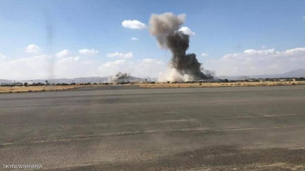 مقاتلات التحالف تدمر مخازن أسلحة حوثية بمطار صنعاء