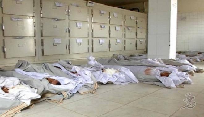 جثامين 19 جنديا استشهدوا ذبحا من جملة عشرات آخرين في لحج جنوب اليمن، وصلت إلى العاصمة صنعاء