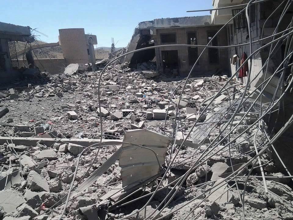 البيضاء: قصف جوي يدمر مبنى السجن المركزي وأدى الى سقوط شهداء وجرحى الأحد 11 أكتوبر 2015