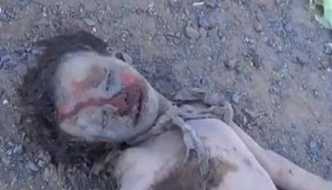 (+18) طفل استشهد ضمن اسرة كاملة جراء غارات العدوان على منزل المواطن صغير مسودة، بمنطقة آل كريد حيدان صعدة، الجمعة 23 أكتوبر 2015